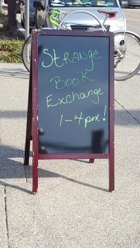 Strange Exchange sign
